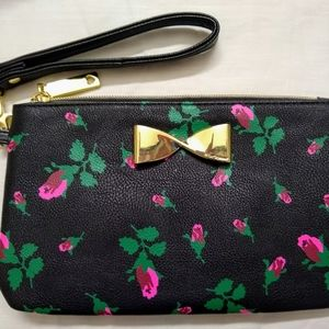 Betsey Johnson Rose Wristlet with attached charger